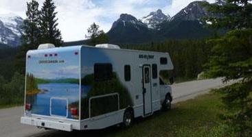 Autocamper gennem Canada